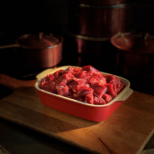 Afbeeldingen van Doorregen soepvlees/stoofvlees gesneden (500 gram)